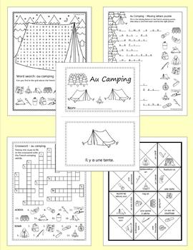 French Camping Summer resource pack