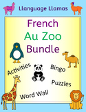 French Zoo Animals Bundle - Au Zoo - Activities Puzzles Word Wall Bingo
