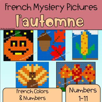 French Autumn Mystery Pictures! Color By Number / Grid