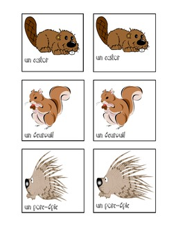 French Autumn Songs with Small Memory Animal Game