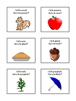 French - Autumn vocabulary game