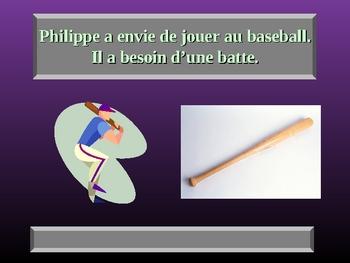 French Avoir Envie et Besoin