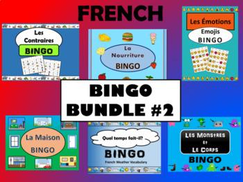 French BINGO BUNDLE #2 - 6 more French BINGO Games