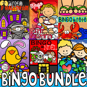 French BINGO BUNDLE {Create Your Own Card}