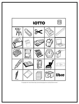 French BINGO - School Vocabulary