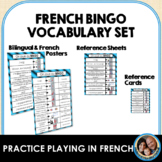 French BINGO Vocabulary Reference Poster, Sheet, and Cards