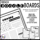 French BOGGLE Boards