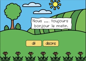 French Boom Cards Present Verbe Irregulier Dire Distance Learning