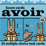 French BOOM Cards AVOIR for Distance Learning