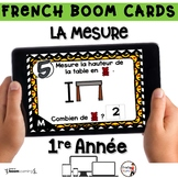 French BOOM Cards - French Distance Learning - LA MESURE M