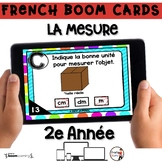 French BOOM Cards - French Distance Learning - LA MESURE -