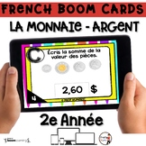 French BOOM Cards - French Distance Learning - LA MONNAIE