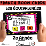 French BOOM Cards - French Distance Learning - LES ÉQUIVAL