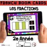 French BOOM Cards - French Distance Learning - LES FRACTIO