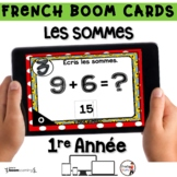 French BOOM Cards - French Distance Learning - LES SOMMES