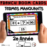 French BOOM Cards - French Distance Learning - TERMES MANQ