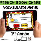 French BOOM Cards - French Distance Learning - VOCABULAIRE