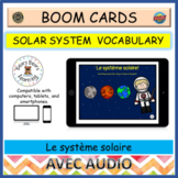 French BOOM Cards™: Le système solaire - SPACE SOLAR SYSTEM VOCABULARY