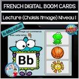 French Distance learning with Boom Cards | La lecture | Choisis l'image Niveau 1
