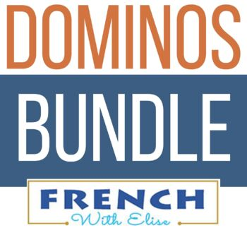 French - BUNDLE: 3 Sets of Dominos - Present Tense