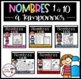 French BUNDLE Dab-It Numbers 1-10 / Ensemble Tamponne les nombres 1-10