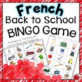 French  Back To School Bingo Game