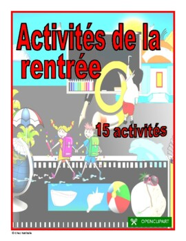 French Back to School Activities