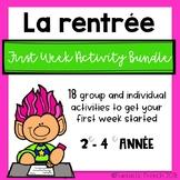 French Back to School First weeek Bundle (La rentrée)
