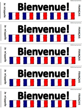 French Back to School Bienvenue Bookmark