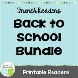 French Back to School Bundle ~ L'école ~ Bundle en français