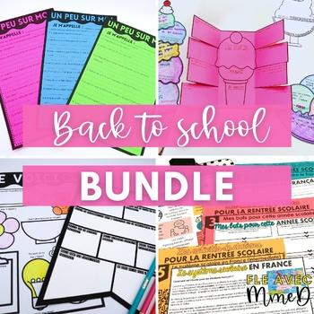 French Back to School Bundle - Ensemble pour la rentrée