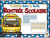 French Back to School Count the Room: Compte dans la salle Rentrée Scolaire