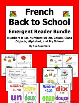 French Back to School Emergent Readers Bundle - 6 Sets of
