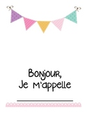French Back to School Getting to Know You/Student Info Package