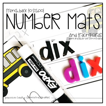 French Back to School Number Mats