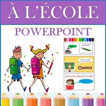 French Back to School PowerPoint Presentation: La Rentrée Scolaire (2nd to 6th)