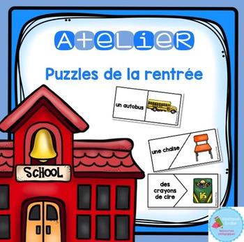 French Back to School Puzzles/ Casse-tête {Mots de la rentrée}