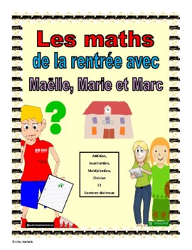 French Back to School Word Problems