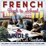 French Back to School with Comprehensible Input Bundle