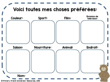 French - Back to school activities