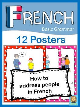 French Basic Grammar  How to address someone  12 Posters