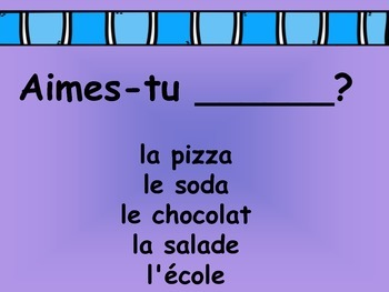 French Basic Oral Questions Presentation