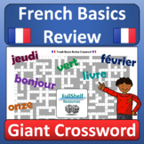 French Review Crossword