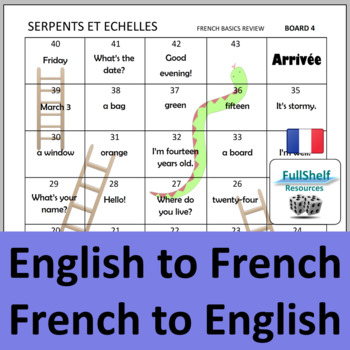 French Basics Review Games