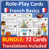 French Basics Role Play Speaking Activities BUNDLE