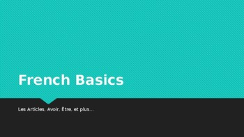 French Basics ppt - Review