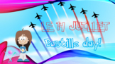 French Bastille day, 14 Juillet interactive activities songs and video