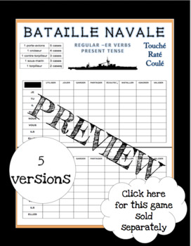 French Bataille Navale Games - Growing Bundle