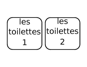 French Bathroom Passes