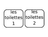 French Bathroom Passes